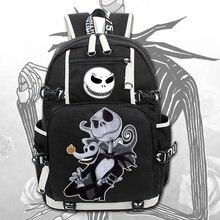 2018 New The Nightmare Before Christmas Laptop Backpack Cosplay Cartoon School bags