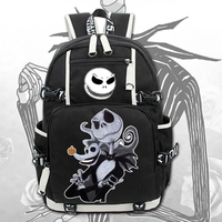 2018 New The Nightmare Before Christmas Laptop Backpack Cosplay Cartoon School bags 17 College Students Bag Bookbag Travelbag