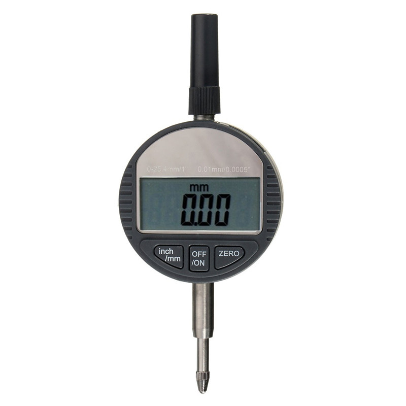 High Quality Portable Digital Dial Indicator 0.01mm/.0005 inch Range 0-25.4mm/1 inch Gauge New Arrival 0 001mm 00005 digital indicator range 0 25 4mm 1 gauge