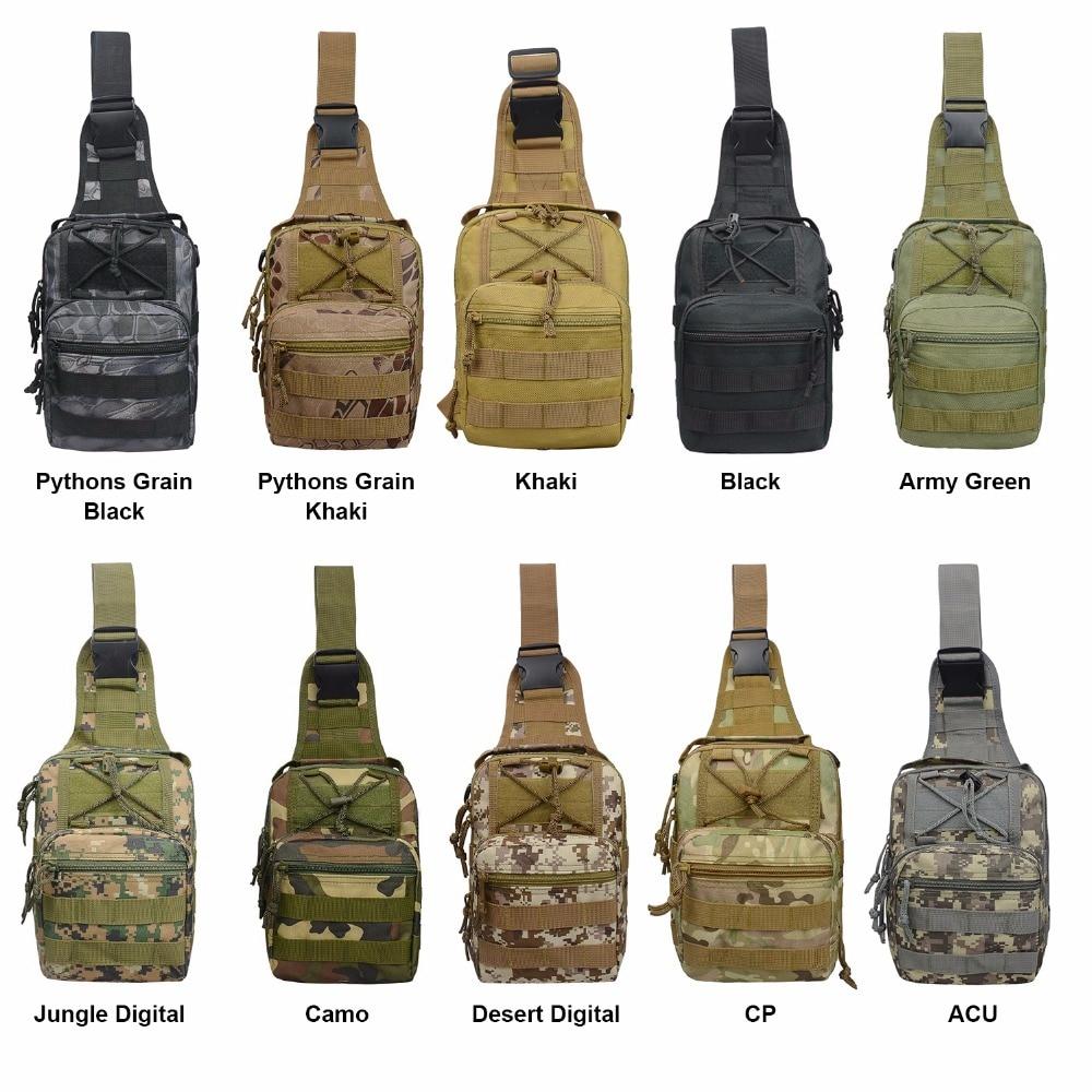 US Warehouse Military Tactical Bag Men Nylon Cross Shoulder Bags for Outdoor Hiking Camping Travel 600D Oxford Backapack Droship