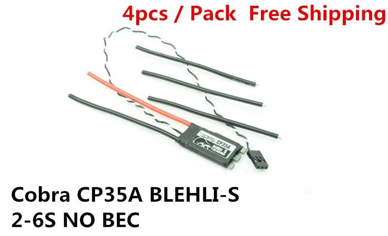 Cobra ESC CP35A BLheli_S Superior version 2-6S Lipos, No BECs for Mini drone, Fpv racing, 4pcs /pack shelby cobra 427 s c