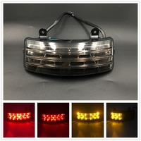 Smoke Tri Bar Fender LED Tail Brake Signal Light For Harley Touring Street Glide