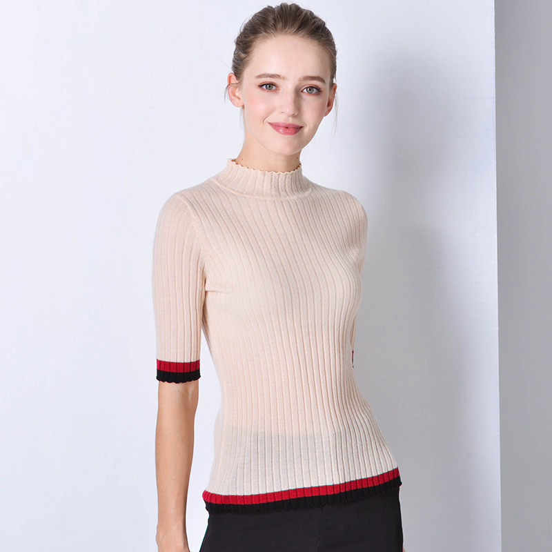 beige sweaters women turtleneck fem me jumper Korean style pullover 2019 autumn winter  clothes knitted top plus size slim fit