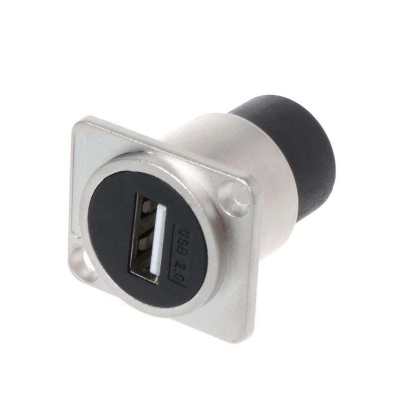 1Pc USB 2.0 D Type Socket Metal Female To Female Module Connector USB Plug Panel Mounting Holder Adapter Support New
