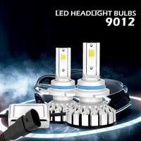 2PCS 9012 high bright car LED lights, voltage: DC9 30V 8000LM/Set 9012 LED headlights.