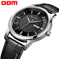 DOM Men Watches Fashion Personality Quartz Watch Leather Belt Vintage Simple Casual Waterproof Wristwatch.M-11L