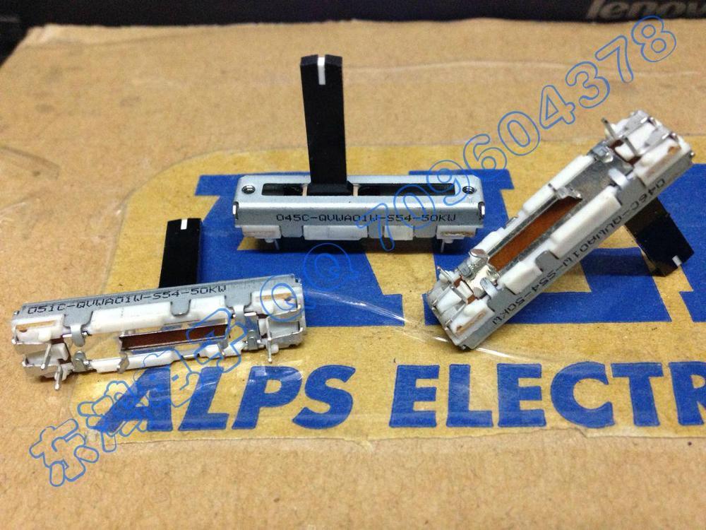 2 шт./лот.. ALPS 3,5 см раздвижной потенциометр с центральным позиционированием одиночный вал W50K 20 мм ..