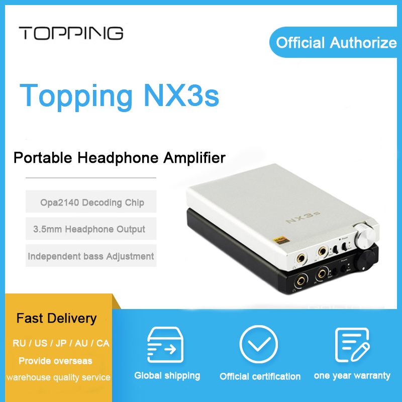 TOPPING NX3s amplificateur de casque USB Portable OPA2140 IME49720 Mini HIFI casque Amp Audio 3.5 MM TOPPING NX3