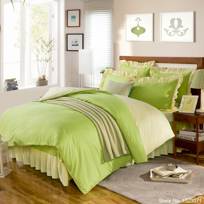 Online get cheap bedding pink green - Pink and yellow comforter ...