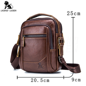 Image 5 - 2019 Men Tote Bags Genuine Leather New Fashion Man Leather Messenger Bag Solid Cross Body Bags Shoulder Business Bags For Men