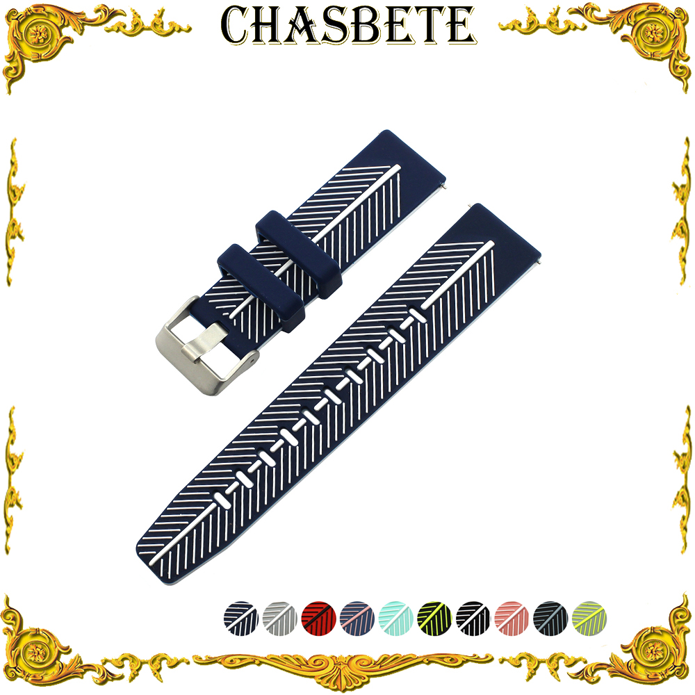 22mm Silicone Rubber Watch Band for Citizen Quick Release