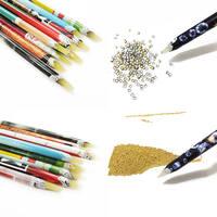 Новый 2 шт. Nail Art воск Ручка Nail аппликатор для стразов Карандаш Gem Кристалл Палочки до инструмент для Красота Nail Art инструменты