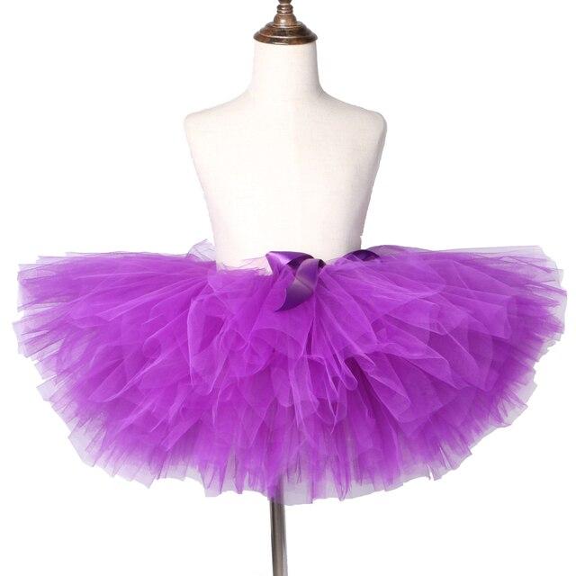 2c5f5ddaf5b Фиолетовый Юбка-пачка для маленьких девочек пышная Фатиновая юбка для  девочек День рождения танцев детские
