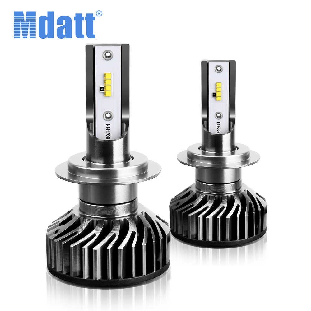 Mdatt  ZES Chip H7 12000LM Mini Car Headlight Bulbs Auto 6000K led lamp motorcycle led headlamp H4 9005 9006 H11