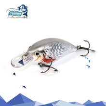 1 pcs 6cm 6.3g Wobblers Fishing Lure Sea Swimbait Crankbait Fish Lure Isca Artificial Bait With 2 Hook Fishing Tackle Tool