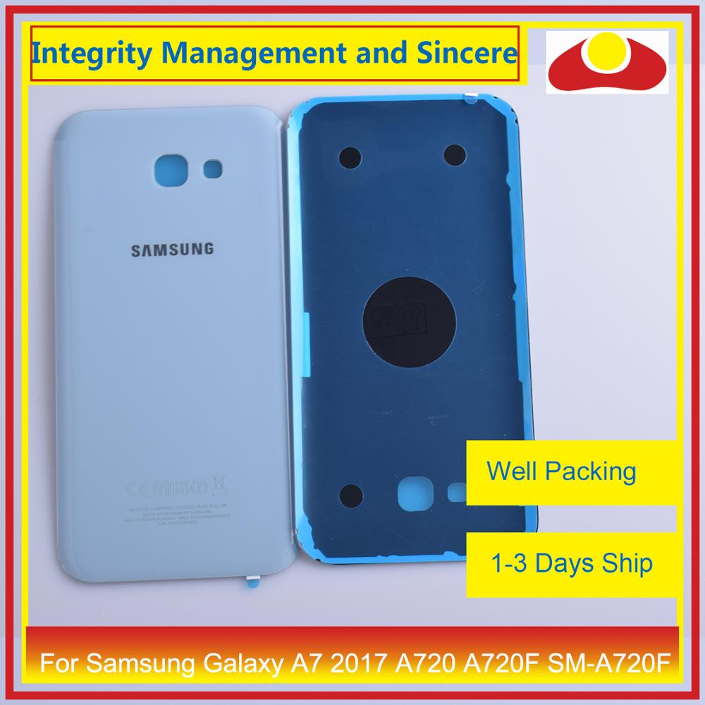 Image 5 - 50Pcs/lot For Samsung Galaxy A7 2017 A720 A720F SM A720F Housing Battery Door Rear Back Cover Case Chassis Shell Replacement-in Mobile Phone Housings & Frames from Cellphones & Telecommunications