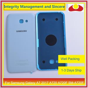 Image 5 - Originele Voor Samsung Galaxy A7 2017 A720 A720F SM A720F Behuizing Batterij Deur Achter Back Cover Case Chassis Shell Vervanging
