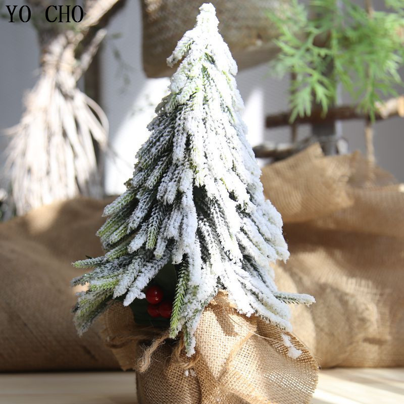 YO CHO Artificial Plant Eco friendly PVC Christmas Tree Fake Leaf For Christmas Decor Festival Party Home Decoration Fake Plant