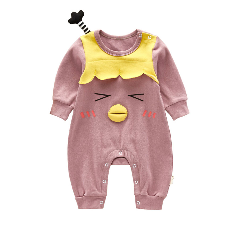 d5e001fc0cd Baby Clothing 2018 Baby Rompers Spring Long Sleeves Infant Cute Cartoon  Chicken Jumpsuit Baby Girls Romper Baby Clothes-in Rompers from Mother    Kids on ...