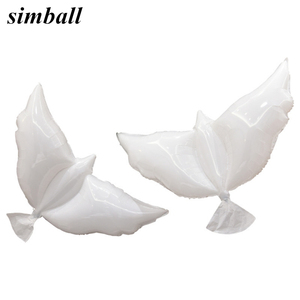 New Flying White Dove Foil Balloons Wedding Globos Balao Dove Balloons Peace Bird Ball Pigeons Peace Dove Birthday Party Balloon(China)