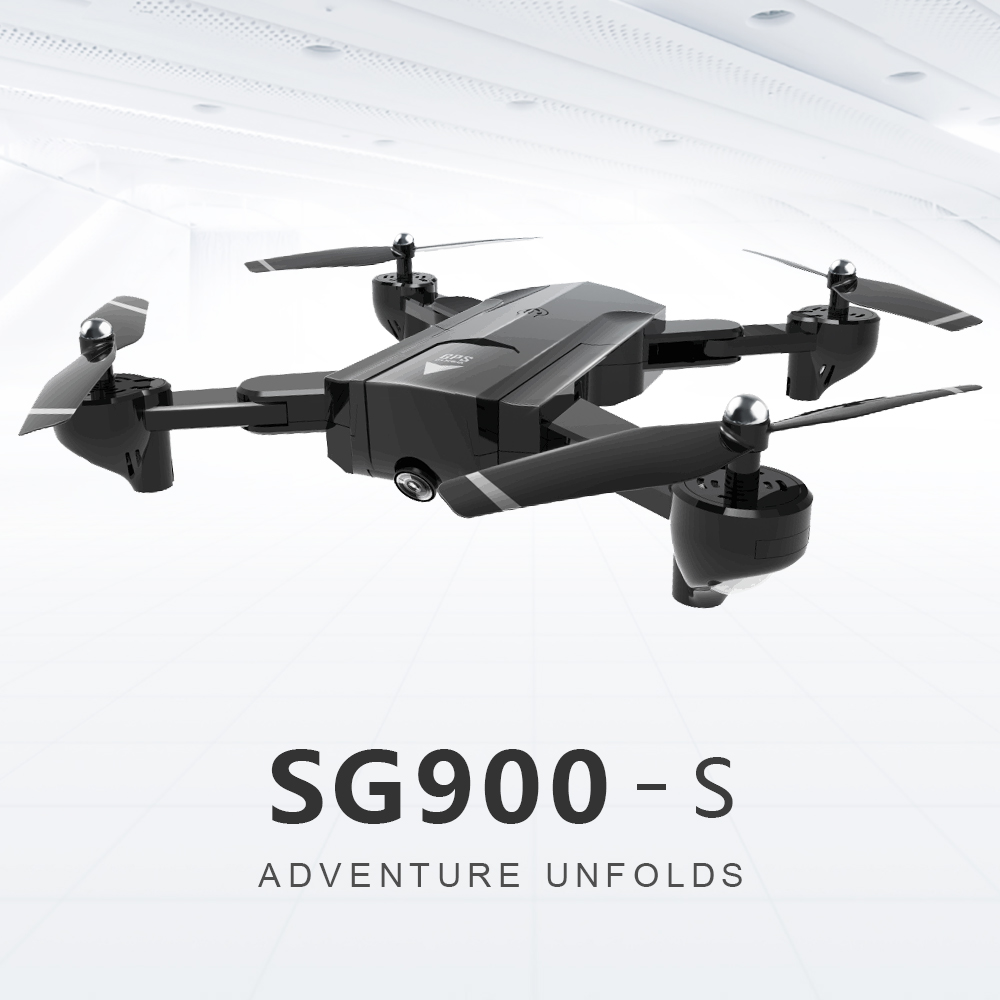 GPS Positioning <font><b>SG900s</b></font> RC Helicopter Foldable <font><b>Drone</b></font> With 720p 1080p WiFi Camera Automatic Follow Me Function Rc Quadcopter image