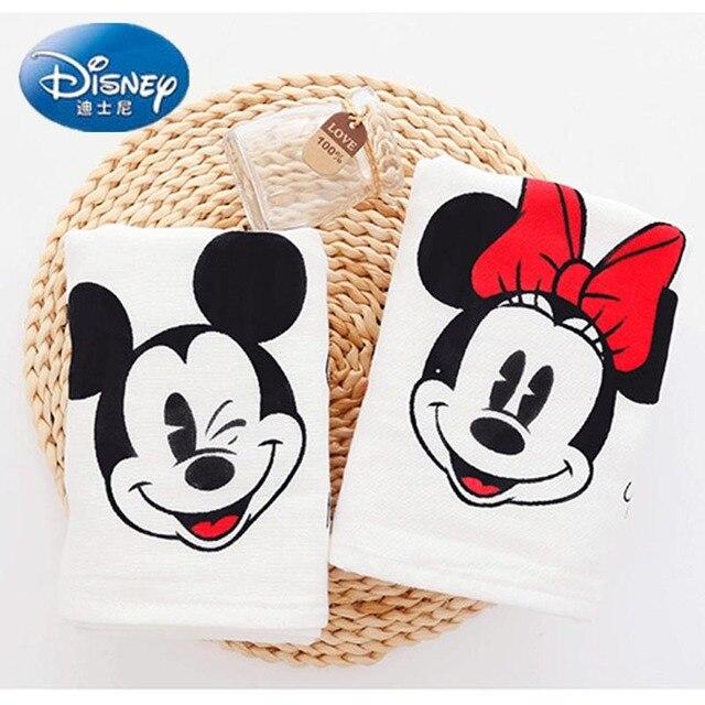Disney 100% хлопок впитывающее полотенце Сушка ванной мочалкой Микки и Минни Маус пляжное полотенце для взрослых детское полотенце для лица подарок на день рождения