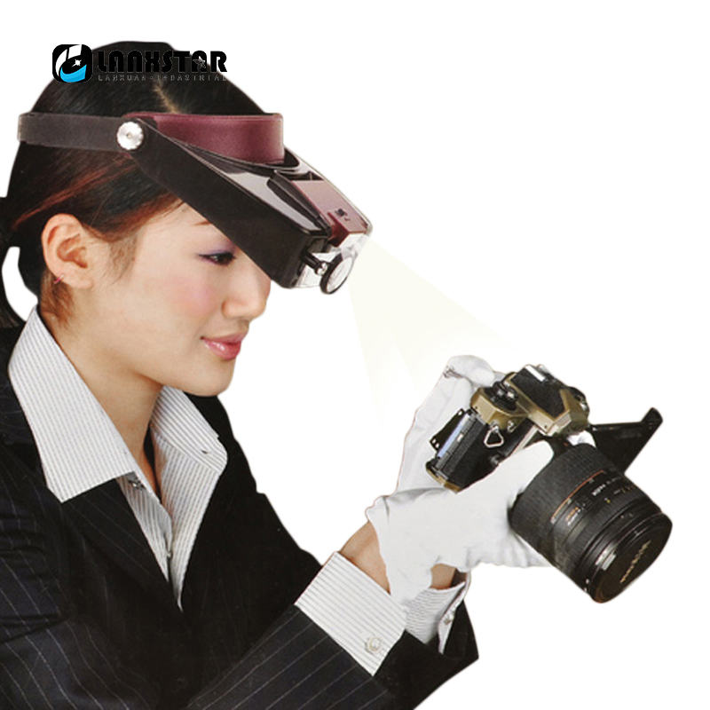 цены New Design Headset 10X Magnifier Helmet Magnifying Adjustable 10 Times Lens Loupe with LED Light Jewel Repair Magnify Glasses