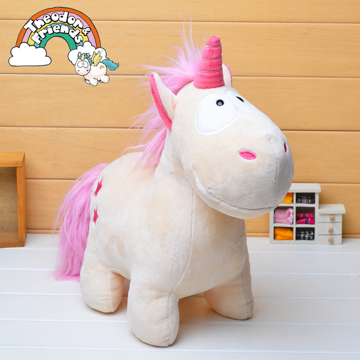 Cute Unicorn Horse Plush Fluffy Stuffed Cotton Lovely Animal Cartoon Doll Toys Kids Gifts New