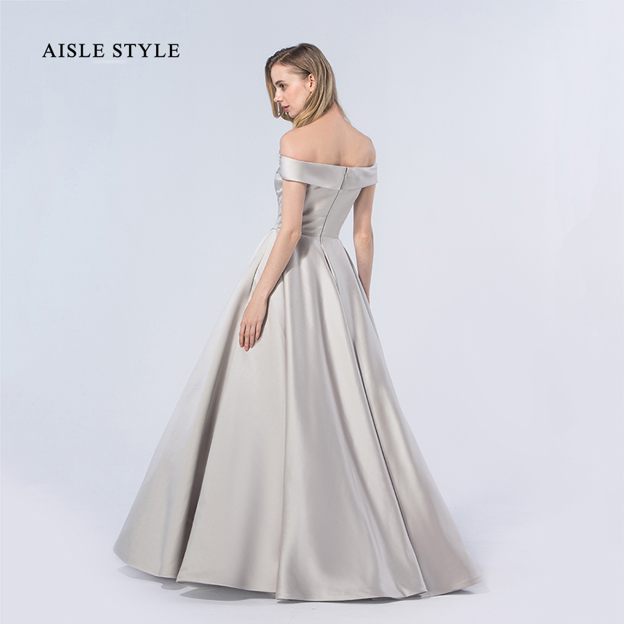 Aisle Style Ball Gown Bridesmaid Dresses Simple Plain Long Winter ...