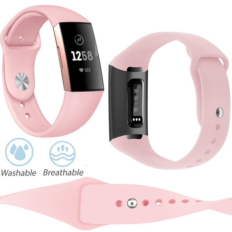 Watch Band Replacement for Fitbit Charge 3 Soft Breathable Watch Strap Durable Versa Band for Women Men Band Strap for Charge 3-in Smart Accessories from Consumer Electronics
