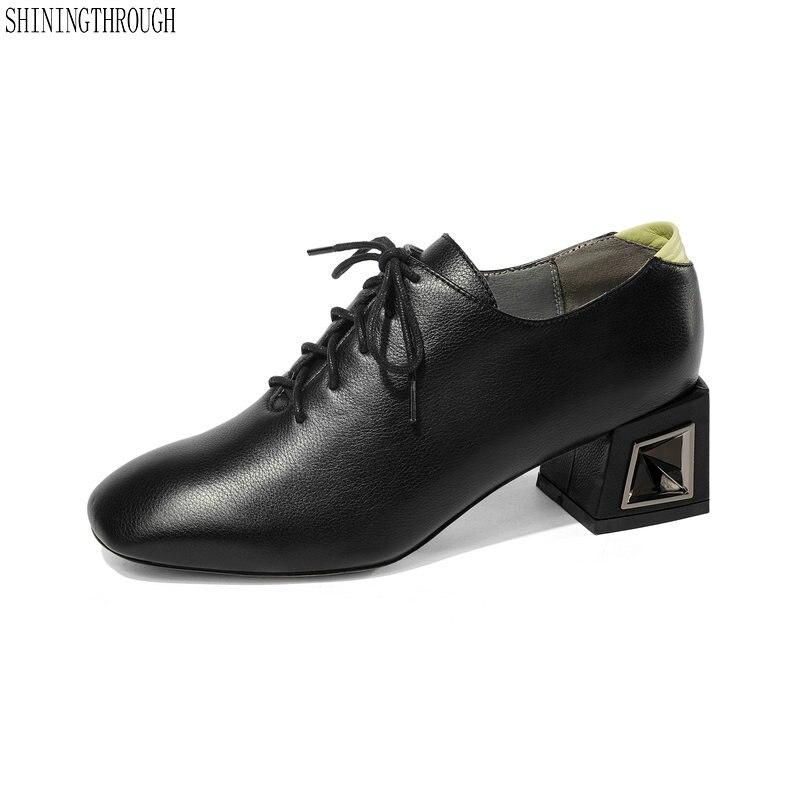 Printemps Automne Noir Grande Mocassins Sexy 43 En Richelieu Nouveau Femmes blanc Chaussures Taille Cuir Luxe Noir Pompes blanc 34 Véritable nz8x0