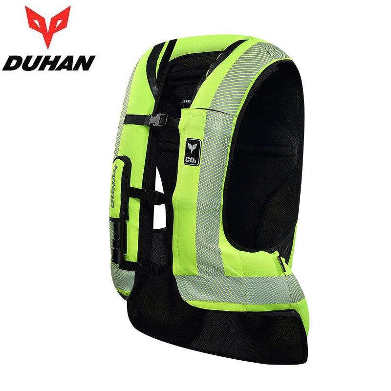 Duhan motocicleta jaqueta airbag colete motocicleta sistema de saco de ar equipamentos de proteção reflexivo moto airbag colete - 2