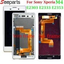 LCD Mobile pour Sony Xperia M4 LCD affichage écran tactile numériseur cadre d'assemblage E2303 E2333 E2353 pour 5.0