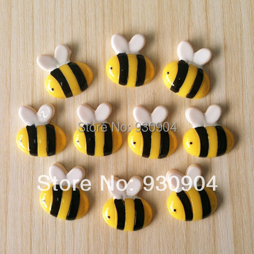 Wholesale Lot 50pcs Cute Honey Bee Animal Resin Cabochons