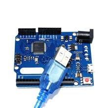 Cabo usb para arduino leonardo r3, placa de desenvolvimento com cabo usb compatível com arduino kit eletrônico faça você mesmo