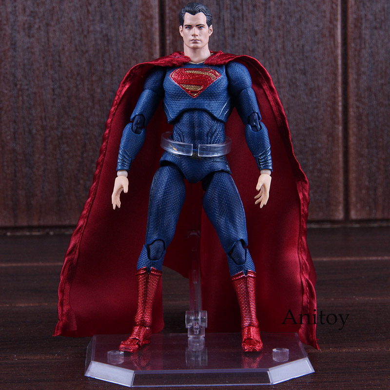 DC Justice League Superman Action Figure PVC MEDICOM TOY MAFEX No.057 Figure Action Collectible Model Toys for Boy 16cm shf figuarts superman in justice ver pvc action figure collectible model toy