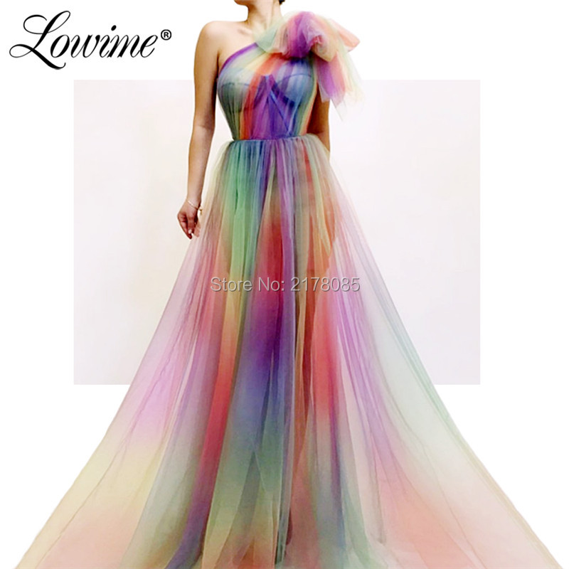 Evening Dresses One Shoulder Muslim Dubai Formal Party Gowns 2019 Robe De Soiree Prom Dress Kaftans For Weddings Custom Made