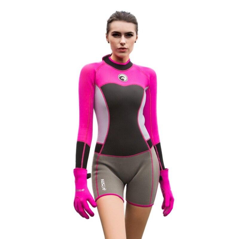 Hot Sale Women Full Body Neoprene Dive Wetsuit Female Diving Suit Surf Swim Equipment Swimwear Keep Warm 1.5mm