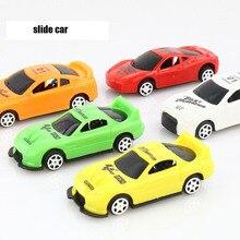 5 шт./компл. Творческие дети мини-автомобиль игрушка милый Пластик Цвет Фул версии скользящий Мини игрушки для детей, подарок на день рождения, разные цвета