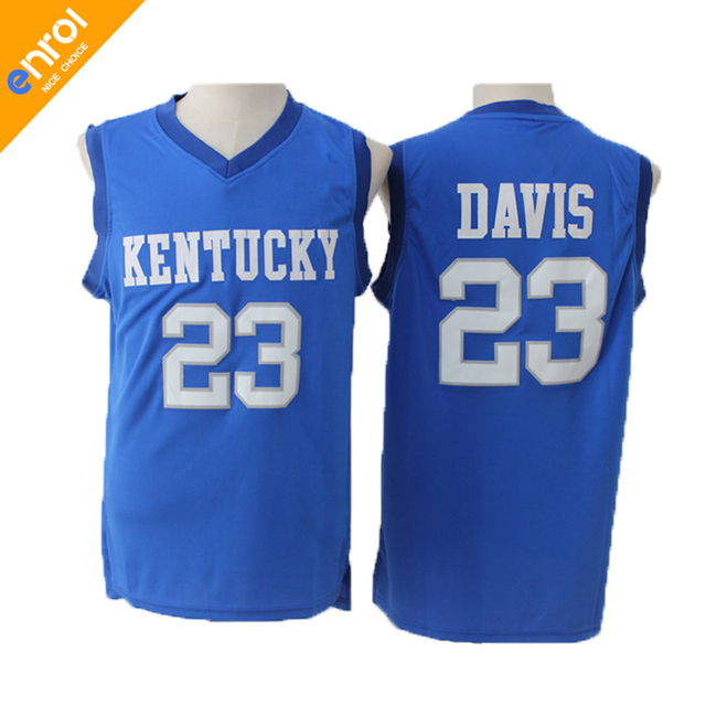 733b764fb5176 ... italy men anthony davis basketball jerseys 23 kentucky university  wildcats throwback high quality retro stitched embroidery
