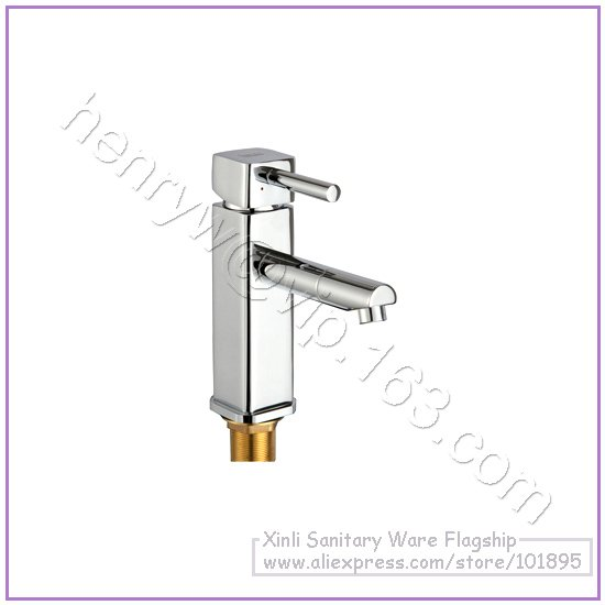 L16653 - Luxury Deck Mounted Chrome Color Brass Material Hot & Cold Water of Basin Faucet цены