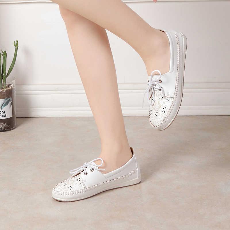 รองเท้าผู้หญิง Zapatos de Mujer ผู้หญิงรองเท้าผ้าใบ Chaussures Femme รองเท้า Buty Damskie สุภาพสตรี 2019 Casual รองเท้า Loafers แบนรองเท้าผู้หญิง