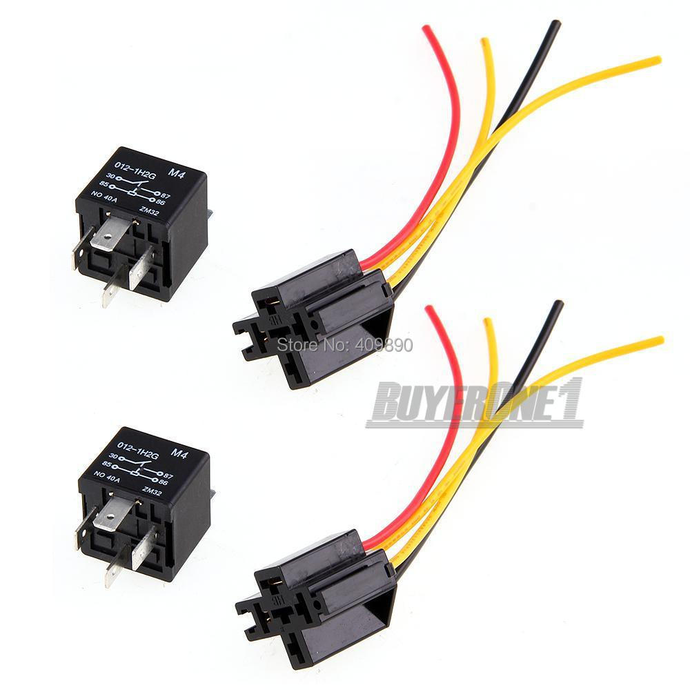 2x 12v Spst Relay Wire Socket Car Automotive Alarm 40a In Relays Dpdt Wiring From Home Improvement On Alibaba Group