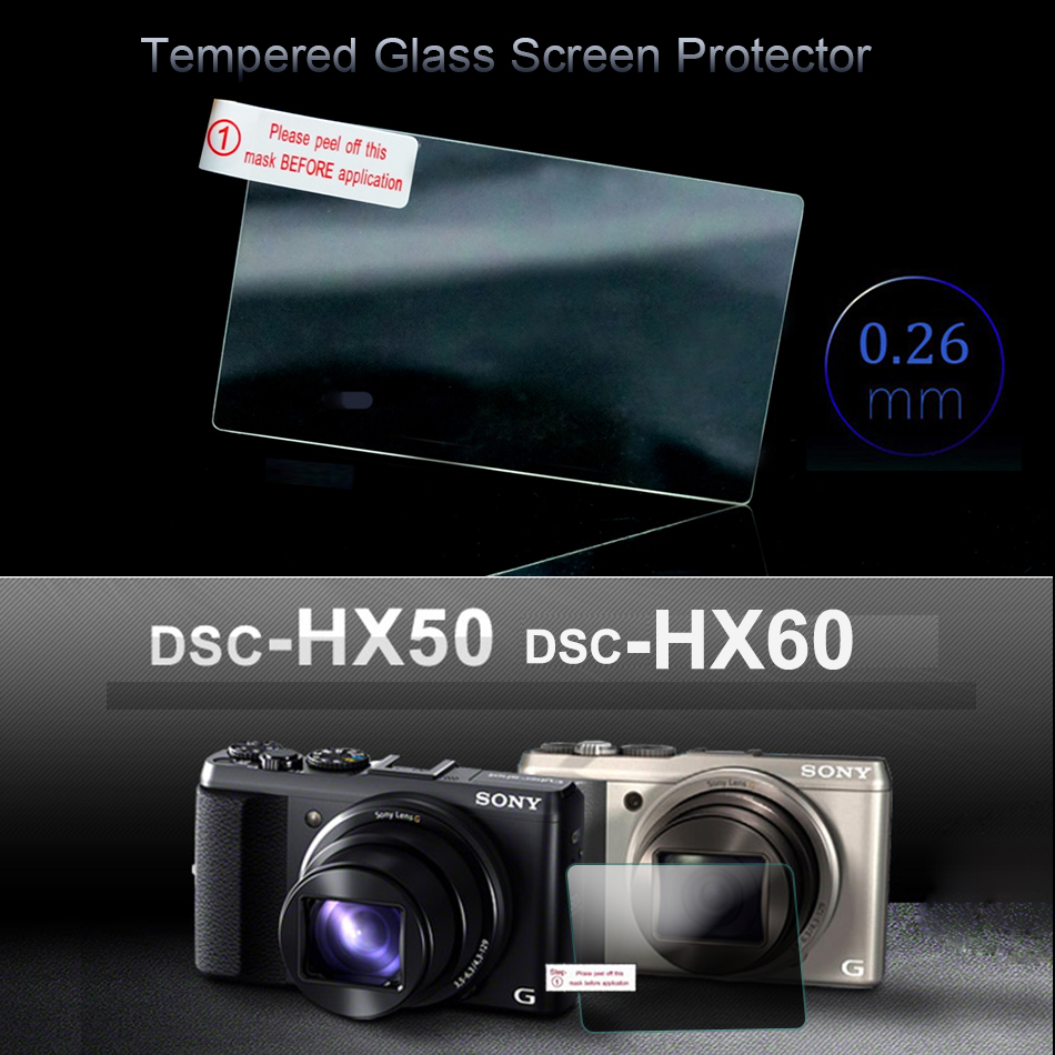 Premium Tempered Glass Screen Protector for Sony HX50 HX60 Special Screen 3 INCH Camera LCD Protector HX60 HX50 Protective Film