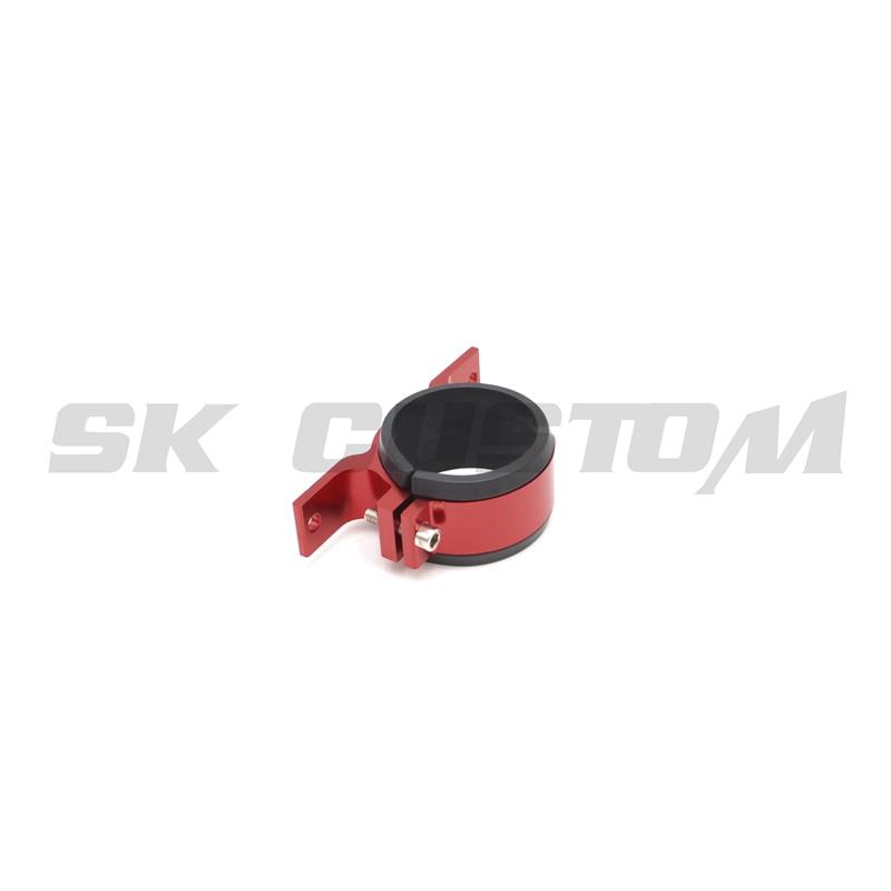 60mm Fuel Filter Twin Bracket Mount Clamp Fits Bosch Pump Billet Aluminum Red