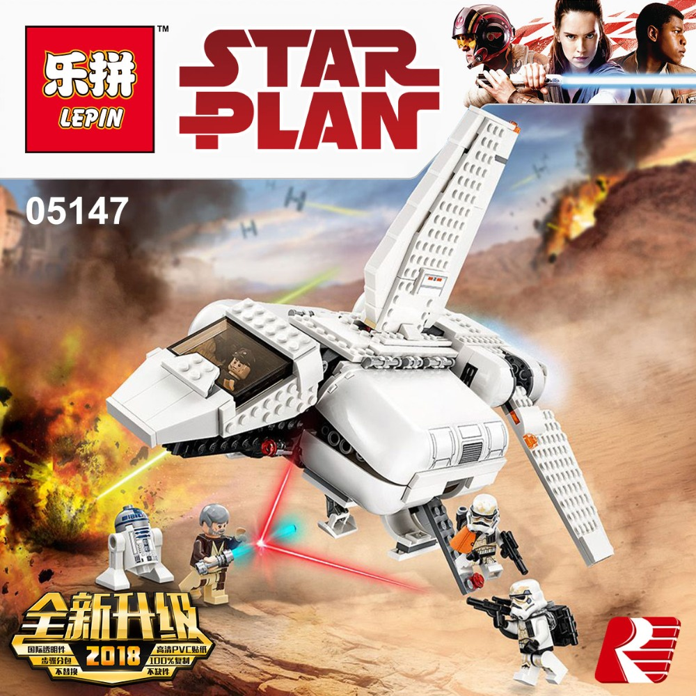 Lepin 05147 Star series Wars Toy The Legoing 75221 Imperial Landing Craft Set Building Blocks Bricks as Christmas Birthday Gifts