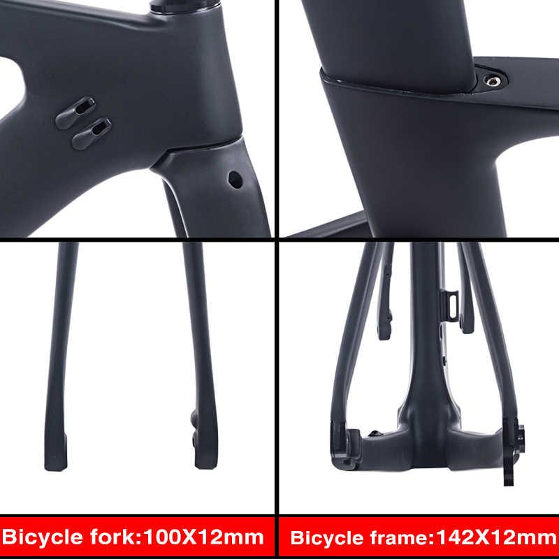 BXT nuevos frenos de disco de carbono Marco de bicicleta de carretera Di2 Marco de fibra de carbono BSA marco adecuado 700C * 28C/30C disco de carbono 140mm envío gratis