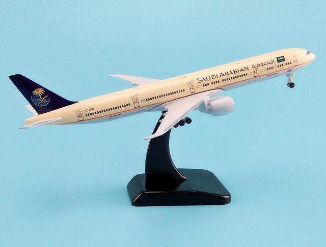 19 cm modèle davion Air arabie saoudite Airlines B777 300ER Boeing 777 Airways modèle davion W Stand roues avion train datterrissage