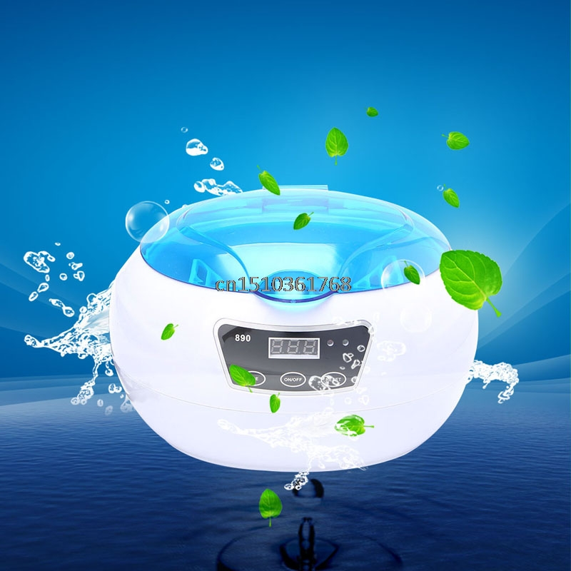 New Stainless Steel Ultrasonic Cleaner Timer For Glasses Circuit Board Watch US EU 600ml #Y05# #C05# free shipping da 968 220v stainless steel dual 30w 50w ultrasonic cleaner machine with display for jewelry glasses circuit board