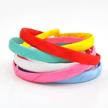 200pcs/lot 15 9Colors Baby Girls Plastic Wraped by Satin HairClasp DIY Accessory Supply in Stock Kidocheese